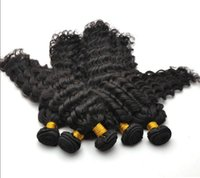 """Wholesale Trade Brazilian Hair - Trade 6A ! Peruvian Queen Virgin Remy Water Wave curly deep wave Natural Color Hair Weft 10""""-30"""" 3-5pcs lot No Shed No Tangle Hair DHL Free"""
