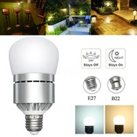 Wholesale Led Dusk Sensor - E26 E27 Motion Sensor Light Dusk to Dawn LED Lights Bulb 12W Automatic on off Sensor Light Indoor Outdoor Security Bulb 85-265V