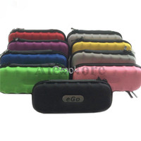 Wholesale Leather Pen Boxes - Ego case leather bag colorful ecigarette carry box 9 colors package with Zipper carrying good quality for Ego Vapor Pen Ecig Starter Kit DHL