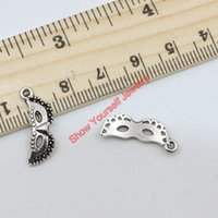 Wholesale Silver Mask Charms - 30pcs lots Antique Silver Tone Mask Charms Pendants for Jewelry Making DIY Handmade Craft 21x8mm A318 Jewelry making DIY