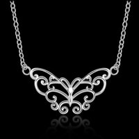 Wholesale Silver Necklace Designs Price - 925 silver the lowest price valentine presents HOT selling simple design beautigul and fashion wedding zricon necklace jewelry N646