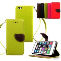 Wholesale Lovely Iphone Wallet Cases - 2016 Hot Wholesale Cell Phone Case Lovely Leaf Design Mobile Phone Cases for iPhone 7 plus 6 6s Samsung S6 S7 edge HTC