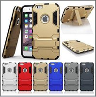 Wholesale S4 Iron Man - 100pcs  Iron Man Armor phone Cases 2 in 1 Support Phone protection shell For iphone4 4S 5C S3 S4 S5 S6 NOTE 3 4 5 Shockprooof DirtProof