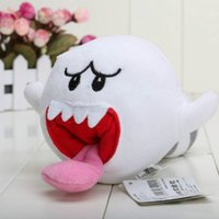Wholesale Mario Ghost Figure - 2016 Hot Sales Brand 4'' New Super Mario Bros BOO Ghost with Tanooki TAIL Plush Doll