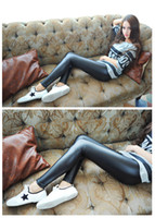 Wholesale Shiny Pants Free - Emmani New Women's Girl's High Quality High Waist Stretch Shiny Spandex Footless Leggings Disco Dance Pants free shipping 2015 New
