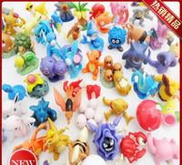 Wholesale Wholes Video Games - 100pcs Elf Action Figures 3-5cm Diamond Toys Action figure Whole sale Inexpensive Child Pikachu ornaments doll