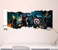 Cartoon The Avengers Superheld-Wandaufkleber Dekor-Kind-Tapete Aufkleber-Kind-Partei-Dekoration Weihnachten Wand-Kunst-50 * 90cm