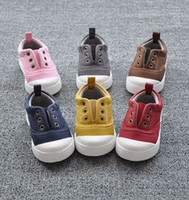 Wholesale Wholesale Vintage Baby Shoes - 2015 Autumn Korean Style Thicken Canvas Colorful Toddler Baby Shoes First Walker Shoes For 1-4T Vintage Children Casual Shoes B3704
