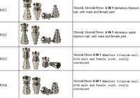 titan honig eimer nägel großhandel-Titan Nagel 4 in 1 und 6 in 1 Domeless Titan Nägel Titan Nagel Honig Eimer mit männlichen und weiblichen Joint
