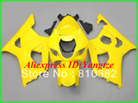 Wholesale Suzuki Brand Motorcycles - Brand new fairing kit for SUZUKI GSXR 1000 03 04 GSXR 1000 GSX-R1000 K3 2003 2004 fashion yellow motorcycle fairings kit