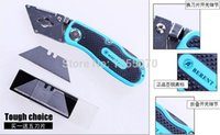 Wholesale Tracking Fixed Blade - Multi-function folding knife folding knife utility knife high strength zinc alloy handle with five blades order<$18no track