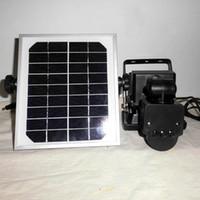 12v infrarotlicht großhandel-10W Solar Power Pir Infrarot Bewegung Carport Sicherheit Hohe Helligkeit führte Flutlicht Im Freien wasserdichte Garten Flut Wandleuchte