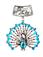 Wholesale Peacock Design Jewelry - 2015 New Arrival Charms New Stock Design Blue Peacock Diy Charm Pendant Jewelry Scarves Fashion Women Necklace Scarf Accessories Zh00111