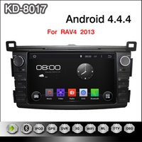 Wholesale Touchscreen Radios For Cars - Android 4.4.4 8inch Capacitive Touchscreen Car DVD Player For Toyota RAV4 Free Shipping