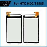 Wholesale Hd2 Phone - HTC HD2 T8585 Touch Screen Digitizer Assembly Replacement Mobile Phone Touch Screen Panel Repair Parts For HTC