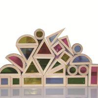 Wholesale Wooden Building Blocks For Children - Super Creative Acrylic Rainbow Educational Toy Tower Pile Of Building Blocks For Children Diy Wooden Assemblage Building Block