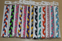 Wholesale Cotton Rope For Sale - 2016 new 3 rope headband Wholesale New item Hot sale many colors triple mini braided headband for girl