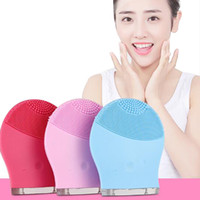 Mini Electric Facial Massage Brush Cleaner Silicone Strumento ad ultrasuoni facciale Spa Massaggiatore Beauty Tool Dispositivo A249H052