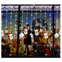 Natal Snowman Snowflake Shop Janela Decorativa Wall Sticker Decal Wall Stickers Glass Snow Flake Janela DIY Home Xmas Decor