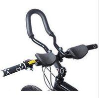 Wholesale Aluminum Rest Handlebar - Wholesale-J002 Free shipping Hot sell Bike Cycling Race Bicycle MTB Aluminum Alloy Triathlon Aero Handlebar Rest Handle Retail Wholesales