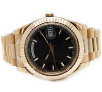 швейцарский бриллиант 18k оптовых-Новые роскошные лучшие бренды золото 18k часы алмазы лица швейцарский день дата продажи мужские автоматические механические часы античные мужчины наручные часы подарочная коробка