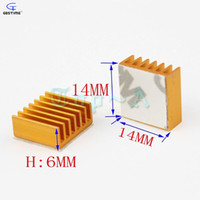 Wholesale ram graphics - Wholesale- Gdstime 10 pcs lot Aluminum Heatsink 14x14x6mm Chip CPU GPU VGA RAM LED IC Heat Sink Cooling Cooler GDT-001