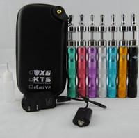 x6 mod cigarro venda por atacado-Atacado-preço de fábrica E cigarros eGo 1300mAh X6 bateria Protank 2 vaporizador Clearomizer Atomizador tanque Vape Pen mod caso usb Starter Kit