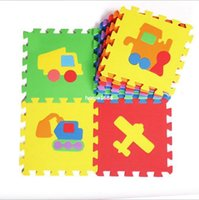 Wholesale Tapete Puzzle - Wholesale Children Traffic cartoon carpet baby crawling Memory foam tapete puzzle mosaic floor mats tapis espuma memoria esteir