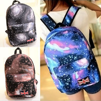 2015 New Fashion Women Oxford Sacs à dos Designer Designer Galaxy Stars Universe Space School Book Campus Sac à dos étudiant British Flag Bags #
