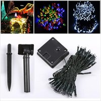 Al por mayor-Solar String Lights 5.4M 50 LED impermeable Decoración al aire libre de iluminación para interior / exterior Patio Garden Christmas Party Decoration