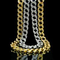 6389e54927cc Venta al por mayor de oro y diamantes cadena de eslabones cubano ...