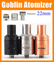 Wholesale Atty Tank - Goblin Atomizer rda Rebuildable Atomizer 510 Thread 22mm E Cigarette Tank Goblin RbA Black Vaporizer Vs Kennedy addy atty rda ATB156