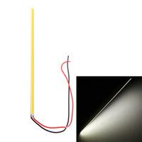 en ince ledli şerit toptan satış-Ultra-ince Beyaz 5 W LED COB 84 Çip Led Sürüş DRL Gündüz farı Lambası Bar Şerit Oto Araba aydınlatma Alüminyum 12 V DIY Lamba