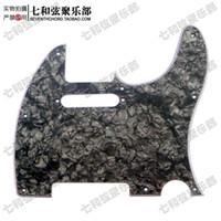 Wholesale black guitar screws resale online - NEW Black Pearl Celluloid PVC Ply Electric Guitar Pickguard Scratch Plate with Screws