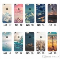 Für apple iphone 6 6 s plus iphone 7 plus se silikon fall landschaft überzug tpu handy fällen Elizabeth Turm Big Ben Eiffel