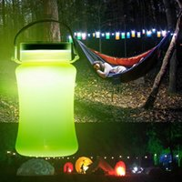 Wholesale Storage Lamps - Solar Waterproof Rechargeable LED Lantern Multifunction Outdoor Camping Light Portable Lantern Tent Light Storage Bottle Table Lamp