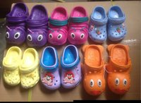 Wholesale Mixed Cartoon Slippers - Wholesale-wholesale 50pairs cheap children's cartoon sandals hole shoes EVA sandals slipper mixed size and color via fast shipping