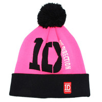 Wholesale Hiphop Caps Online - Wholesale-one direction hiphop ID Beanie Hats black winter knitted caps wholesale & dropshipping Fashion Caps cheap online Free shipping
