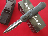Wholesale Nylon Handle Knives - Black BM A014 3350 Infidel tactical knife D2 steel G10 handle combat troodon A161 A07 camping gear pocket knife knives with nylon sheath