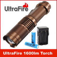 UltraFire 12W lampe 1600lm CREE XML T6 LED ZOOMABLE lampe torche 2 * 18650 KIT