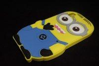 Wholesale Despicable Design Back Case - MOQ:100pcs 3D Cute Brand Design Cartoon Despicable Me Minion Case For BQ Aquaris E5 Soft Silicone Back Cover Case