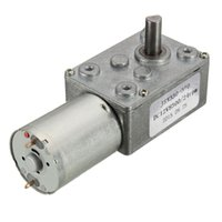 Wholesale 12v Dc Worm - Loewst Price Best Qualtiy 12V 24rpm Square Speed Gear Box Worm Geared DC Motor High Torque 370 Motor