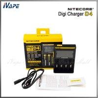 Wholesale Digital E Cigarette - 100% Original Nitecore D4 Charger Nitecore D4 LCD Digital Display Charger for 26650 22650 18650 18350 14500 E-cigarette Li-ion Battery