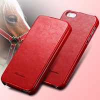 Wholesale Deluxe Iphone 5c Case - Wholesale-New Deluxe Retro Crazy Horse Pattern Case For iPhone 5C Leather Flip Cover Pouch Bags Luxury with Fashion Logo for iphone5c RCD