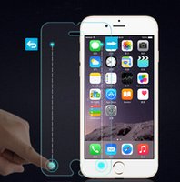 Wholesale Iphone Button Protective - For iphone6 Smart 9HD tempered glass screen protector protective film for iphone 6 6plus magic touch with button glass film with retail box