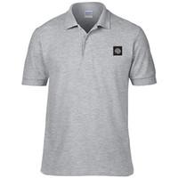 Wholesale T Shirt Stone Island - 2017 New island Recreation big yards short sleeve T-shirt bag mail stone Men's short sleeve solid color cotton stone shirt