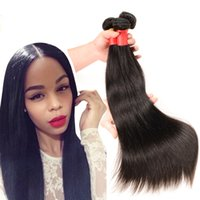 Wholesale 26 Inches Clip Extensions - 100% brazilian human hair weave 10-30 inch hair extensions straight virgin hair in stock Brazilian virgin hair straight 3 4 bundles lot