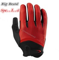 Wholesale 5 Colors Brand New SPD Gel Full Long Finger Gloves for bike bicycle mountain bike off road Sports motocross cycling gloves