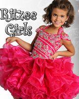 Wholesale kids pageant dresses size 12 - 2018 Custom size Flower Girl Sheer Kids Formal Wear Outstanding Beaded Net Crystal Ruffles Beauty Short Girl Pageant Dresses