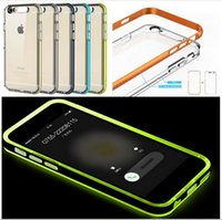 Étui À Tube Led Pas Cher-Outlets ROCK Tube Light shell série de téléphone pour iPhone 6 / 6s 4.7 '' Plus de 5,5 pouces Case Glitter TPU Appel entrant LED Blink Cover Case Phone